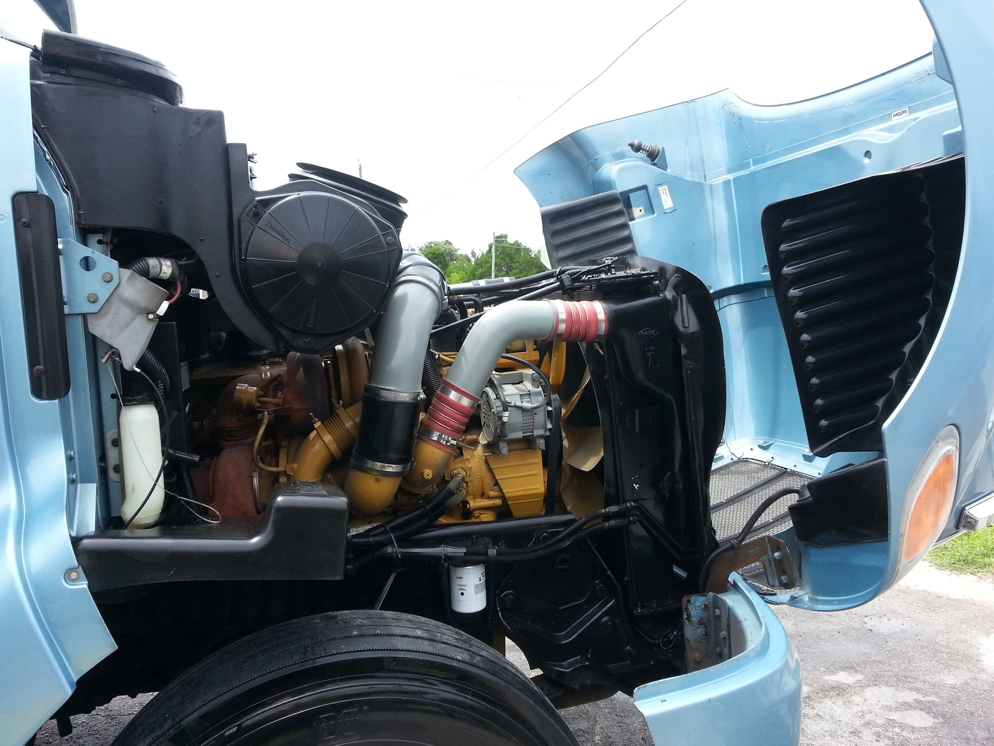 Big Rig Truck Engine Detailing